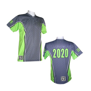 Men Short Polyester Mesh Sports Jersey/T -Shirt with Your logo Design