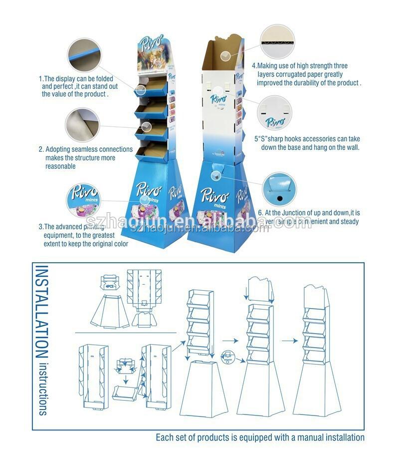 Custom Design Template Cardboard Pallet Counter Display