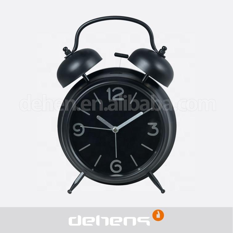 Snooze Table Clock Metal Twin Bell Alarm Clock