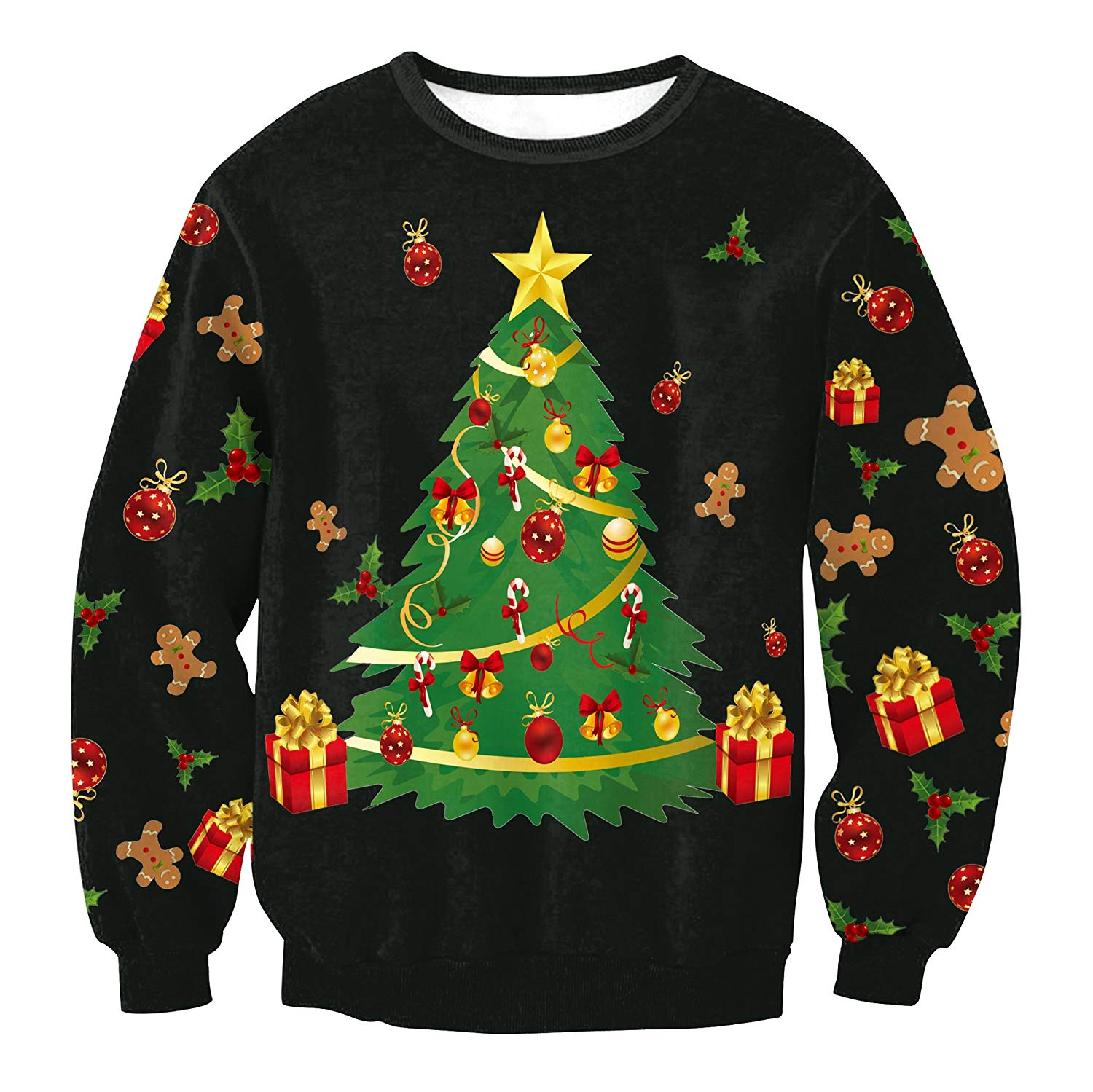 get quotations tangb womens long sleeve christmas digit print pullover sweaters - Christmas Sweaters Walmart