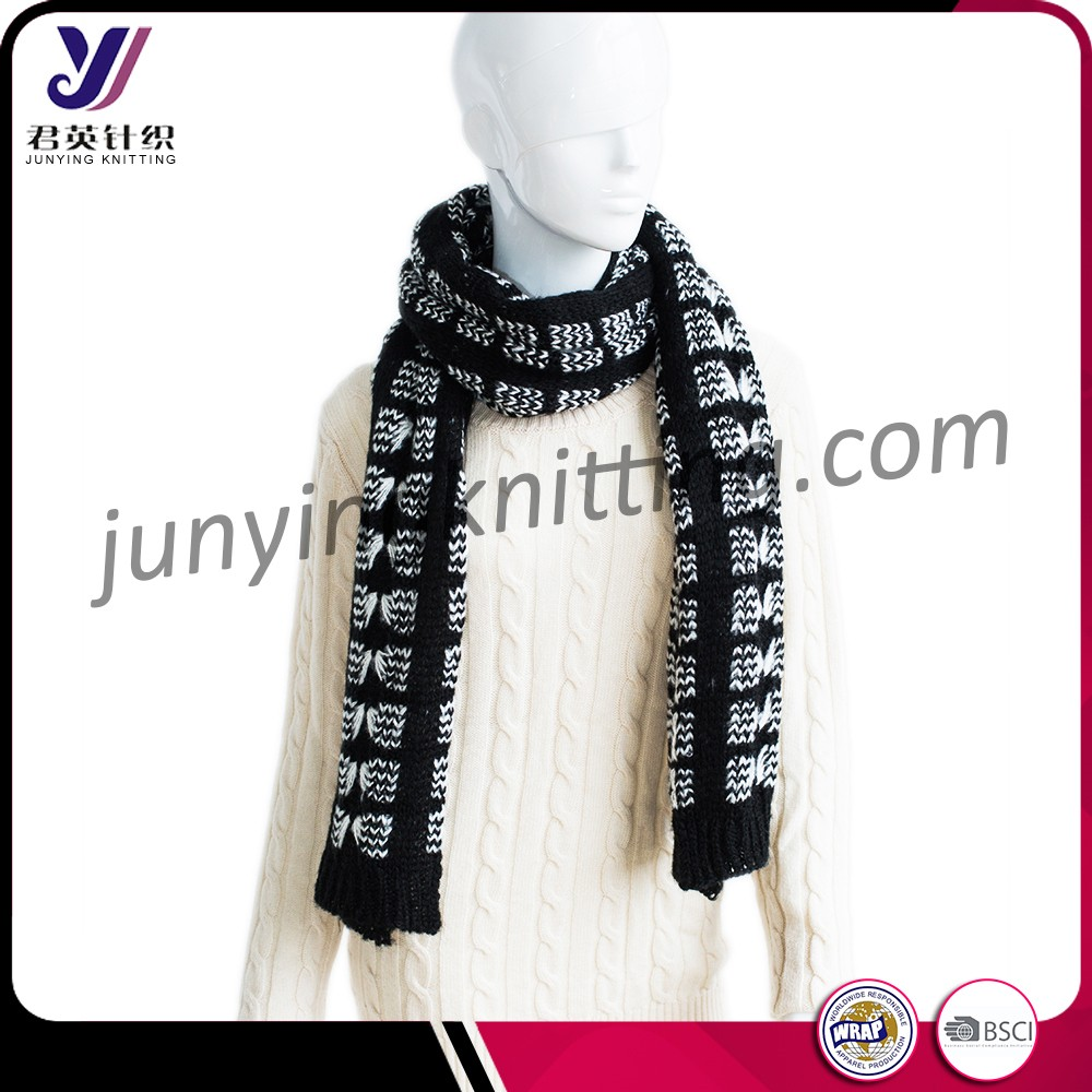 China factory knitted acrylic winter pashmina square scarf men