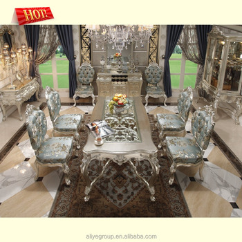 8 Seaters European Rococo Dining Table Image A139