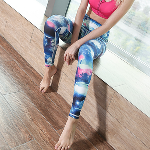 Good materials beautiful gym sports sublimation leggings design your own leggings
