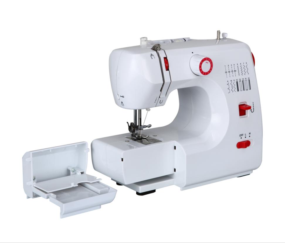 Ac/dc 12 V 2a Multifuncional Pespunte Máquina De Coser Con 16 Stitch ...