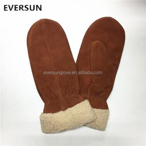 Lady Fashion Warm Pig Split Gloves and Mittens Winter cotton gloves