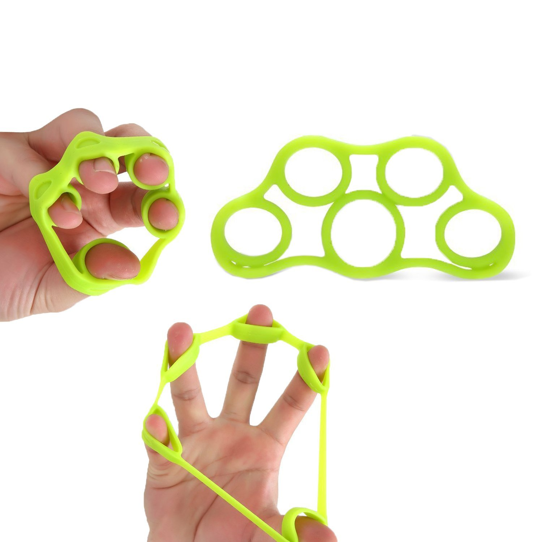 Hand Extensor Exerciser Finger Stretcher Hand Resistance Bands Finger Grip Exerciser Strengtheners Climbing Golf Grip Guitar Finger,Relieve Joint Pain Injury Rehabilitation Relaxation (Green)