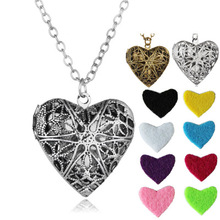 Aromatherapy jewelry pendants Classic Retro Heart Aroma Phased Box Necklace Multi-color diffuser Jewelry aromatherapy locket
