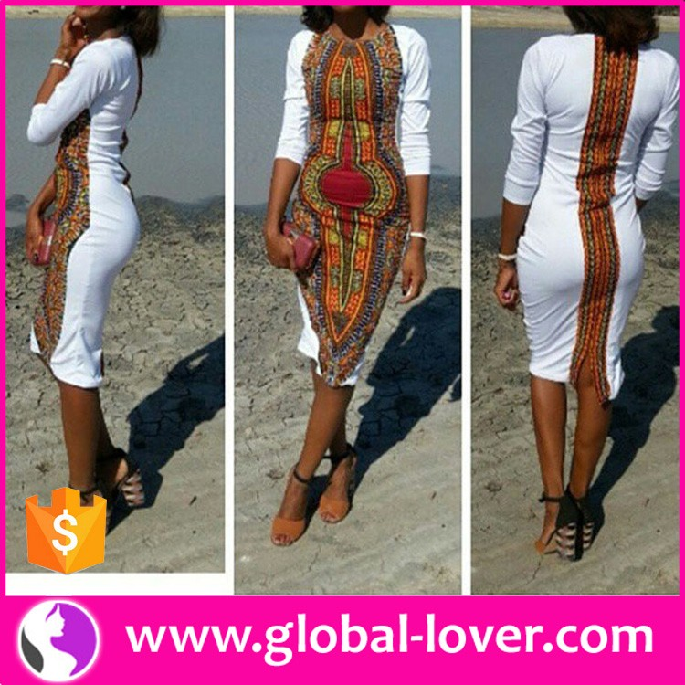 modern ladies hot sexy dashiki african print fashion