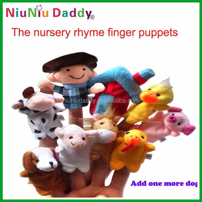 unidsset canciones infantiles de juguete de felpa tteres de dedo al por mayor