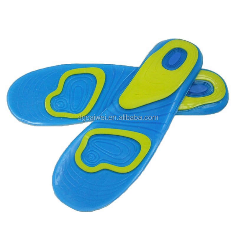 Pure impact shock absorbing extreme sports insole vibrating insoles washable gel insoles