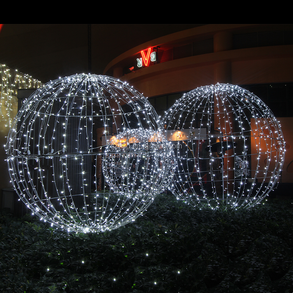 Top sale light up large outdoor christmas balls for party for Outdoor light up ornaments