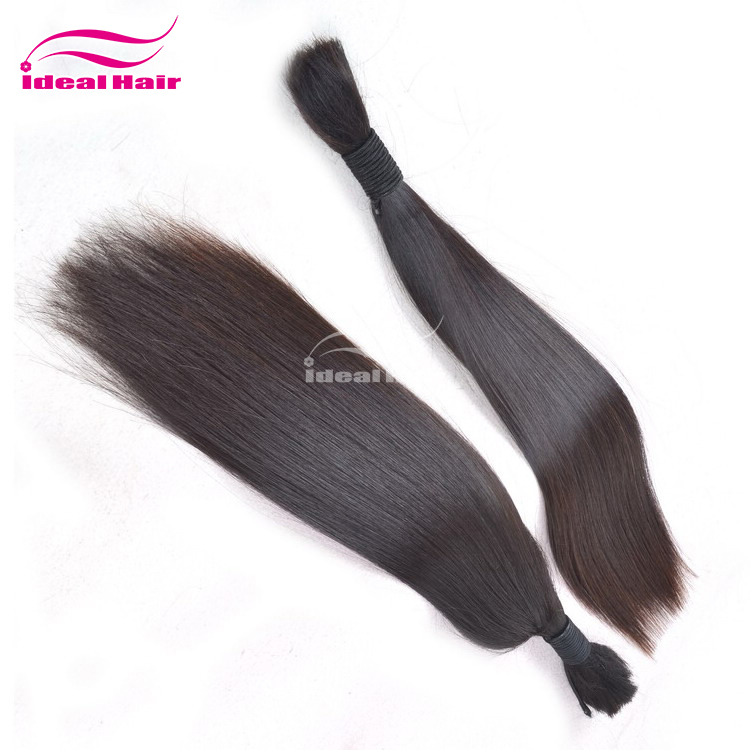 Ideal hair wholesale durable human braiding hair bulk no weft,buy bulk hair weave for sale in zambia