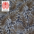 Brown Leopard Printed PU Leather 0.5 Mm Thickness Abrasion - Resistant
