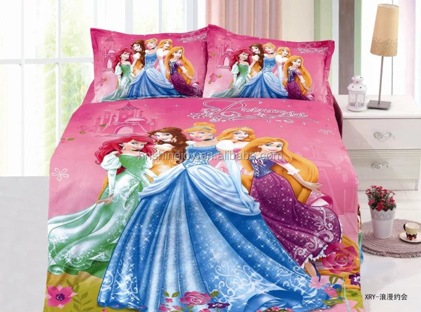 attractive and reasonable price 100% polyester cartoon character 3D bedding sets children bed cover set