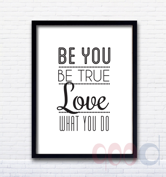 inspiration quote be you canvas art print poster wall pictures for home decoration frame not. Black Bedroom Furniture Sets. Home Design Ideas