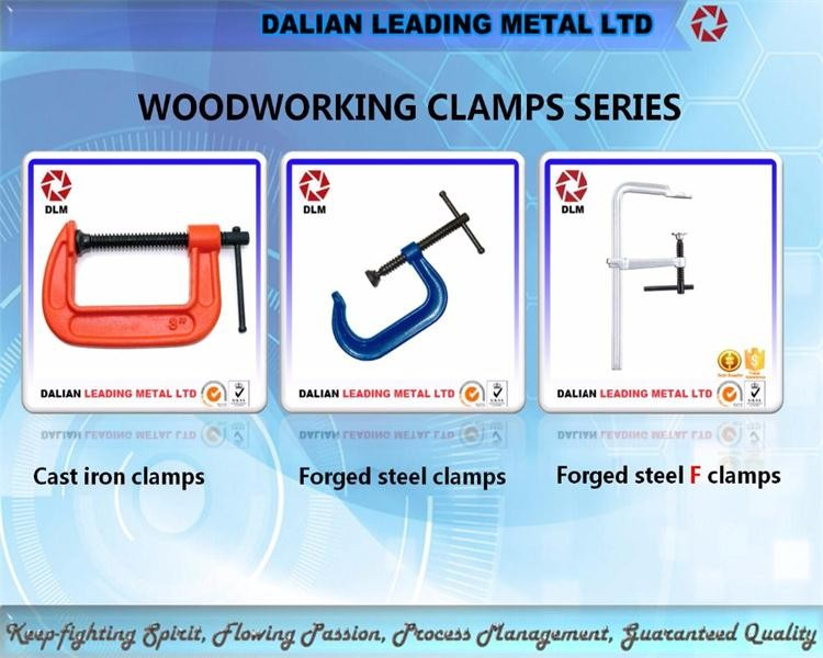 OEM cast iron casting steel swivel bolt lead screw thread rod sliding bar Quick Grip C Clamps Woodworking Clamps