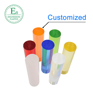 High quality cnc machined color acrylic rod custom size acrylic pmma rod
