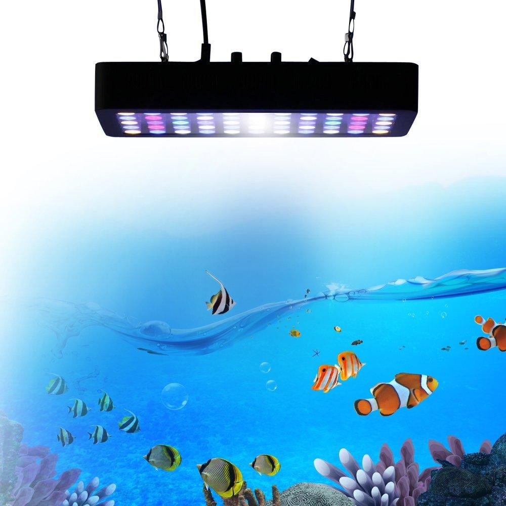 Full Spectrum Regulável Iluminação azul branco levou recife de coral 165 w CONDUZIU a Luz Do Aquário para Recife de Coral Do Tanque de Peixes