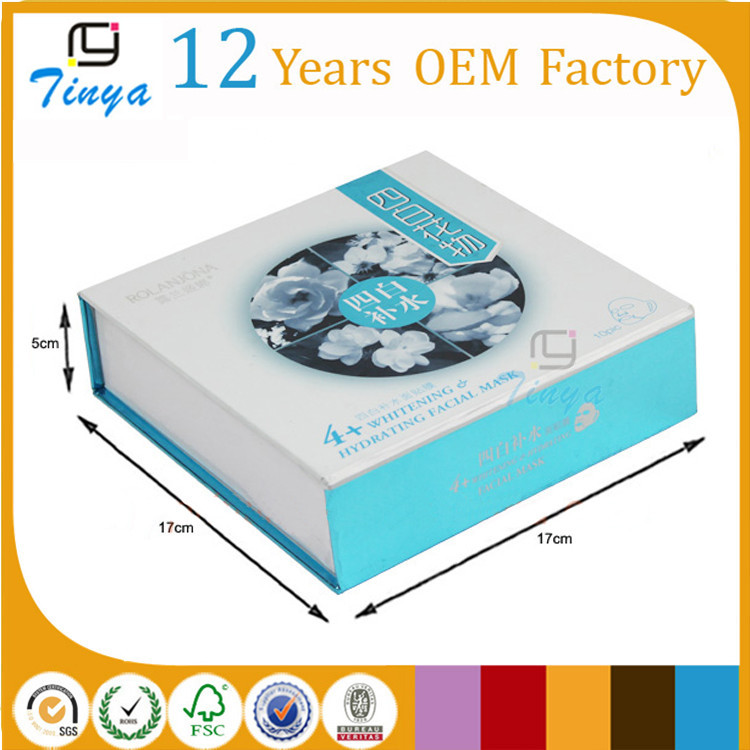 Blue Face Mask Gift Boxes With Flip Lid