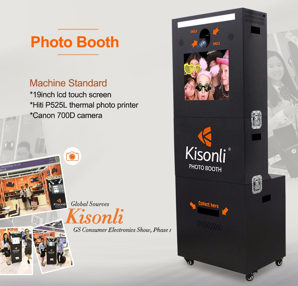 Portable Photobooth With Dsrl Camera And Printer Designed