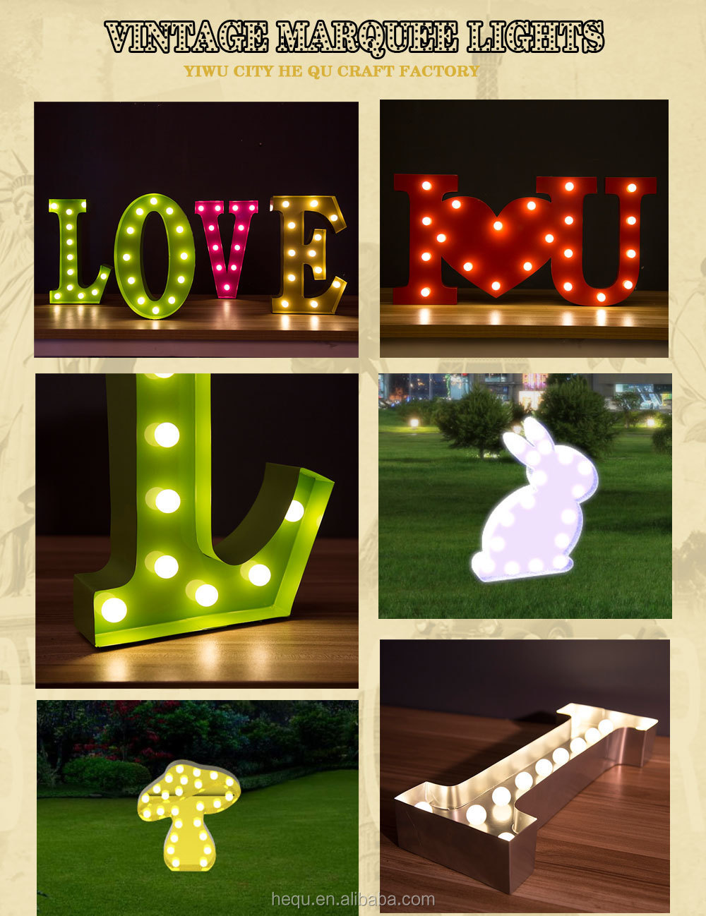 metal vintage led letters light up christmas decorations