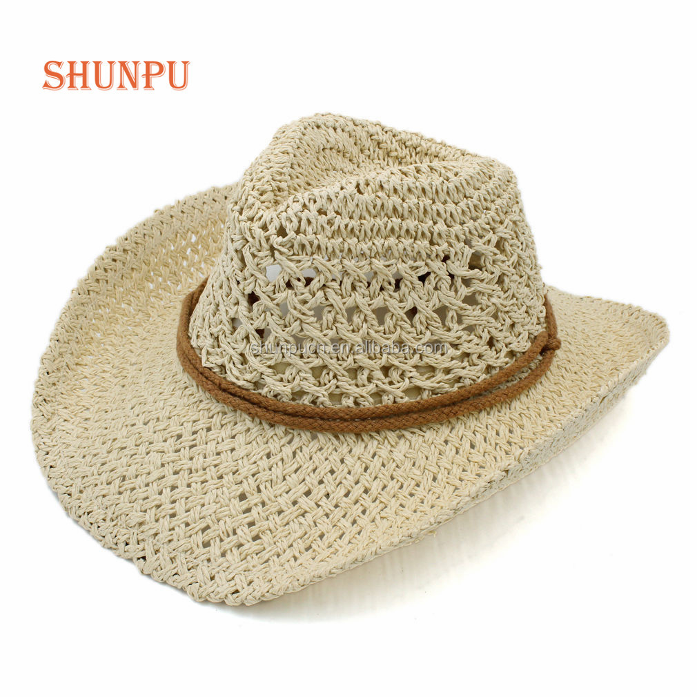 Wholesale Cool Summer Mexican Straw Leather Cowboy Hats - Buy Cowboy ... 8f84eea2273e