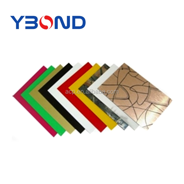 YBOND aluminum cladding acp/acm sheets for building construction with unbroken PE core