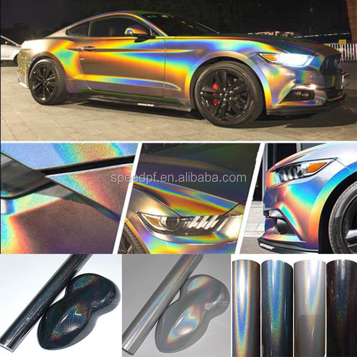 2018 New Rainbow Laser Pearl Chameleon Holographic Car Vinyl Wrap