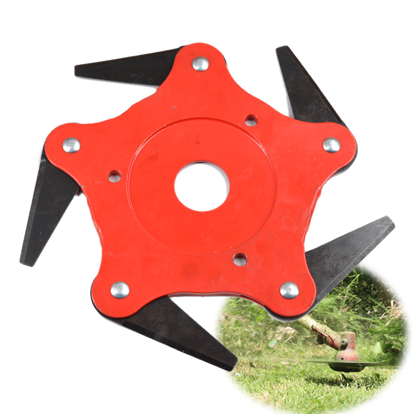 Brush Cutter Blade Grass Trimmers Cutting Head with 5 Razors Steel Power Lawn Mower Replacement Garden Tools Spare Parts