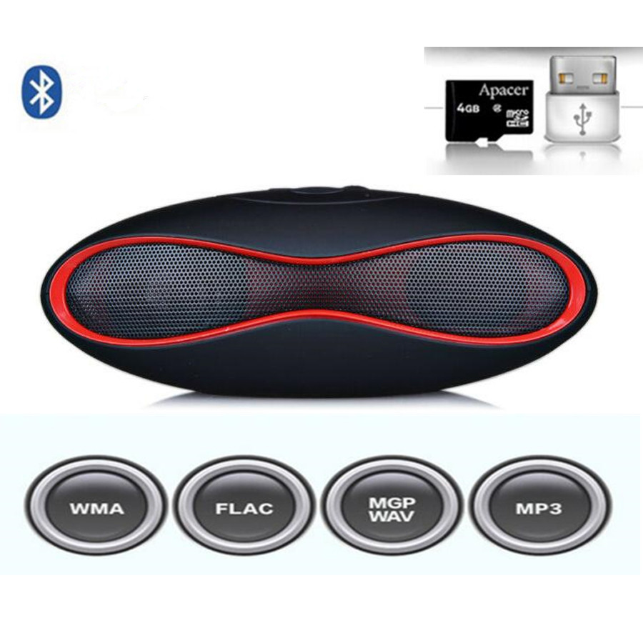 Rugby Football Mini X6 Pro Audio Speakers Stereo Handsfree Sound Box Subwoofer crack Speaker Support TF Card USB