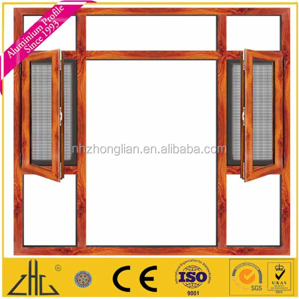 china aluminium profile for sound and heat insulation fly mosquito security fence window