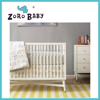 Baby Furniture Color Cots Solid Wood Timber French Style Crib Beds