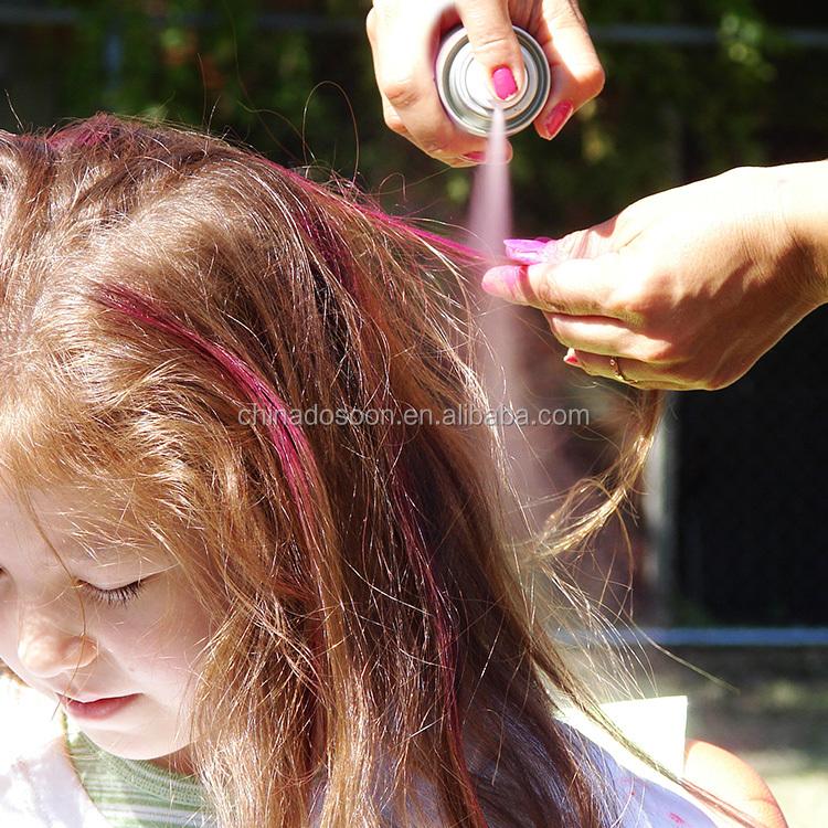 Modieuze DIY Kleur Haarlak, Party Bruin Gekleurde Haarlak, Tijdelijke Wasbare Hair Kleur Spray met Fabriek Prijs