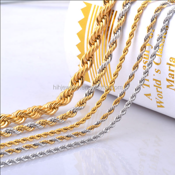 18k Gold Rope Chain Necklace For Men Fashion Types Of Chain Links Jewelry Buy 18k Gold Rope Chain Necklace Rope Chain Types Of Chain Links Jewelry Product On Alibaba Com