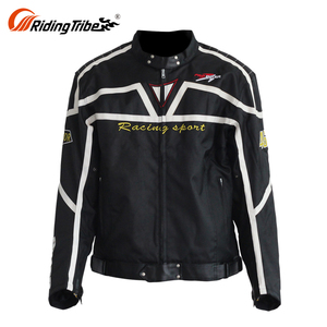 Black protective cool motorcycle Jacket