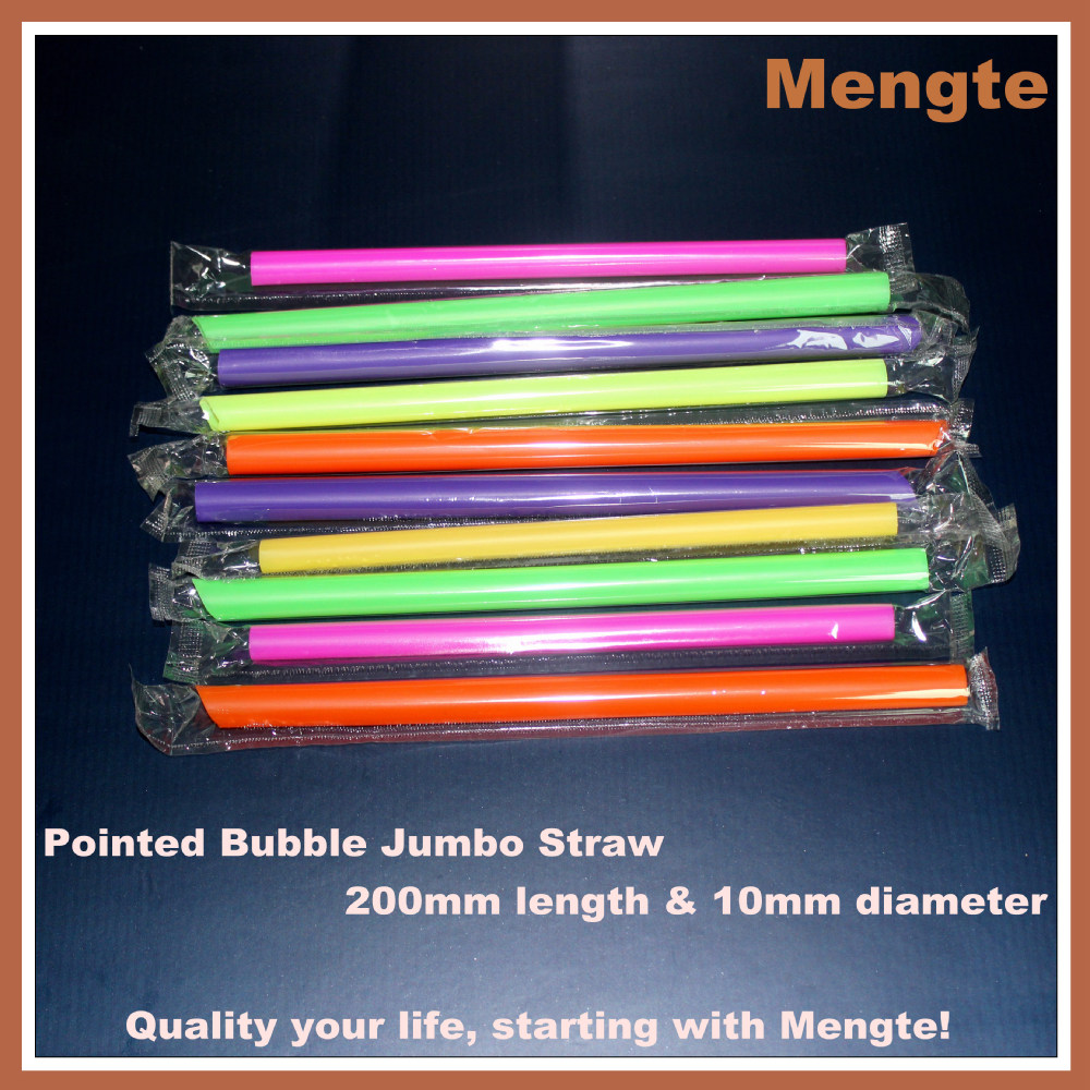 yiwu hard plastic pointed bubble jumbo drinking straws