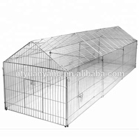 chicken coop wire cage outdoor run hutch with protective net