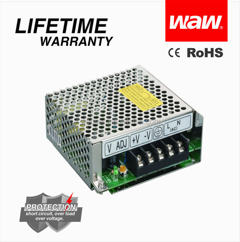 SMPS S-25-12 switching power supply 12v 2.1a 25w with CE ROHS