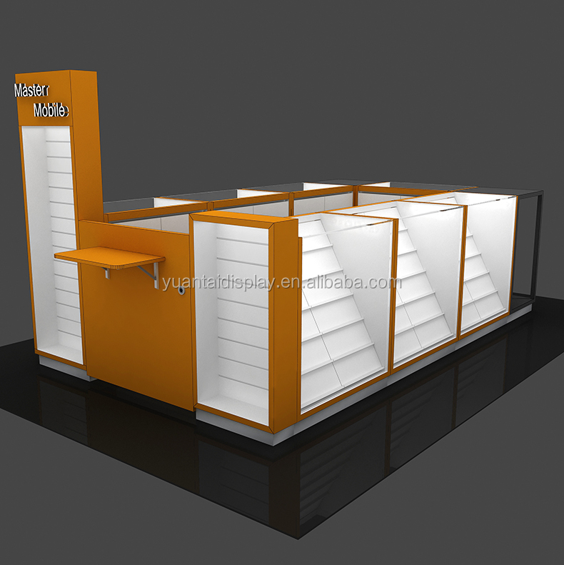 France customized mobile phone accessories kiosk and cellphone case display kiosk