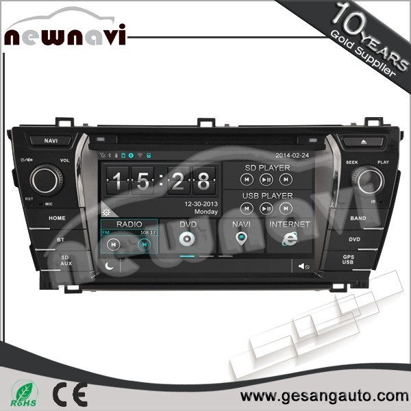 2 din 5.1 channels built in bluetooth function car audio radio for TOYOTA COROLLA 2013-2014 with GPS TV tuner 1080P