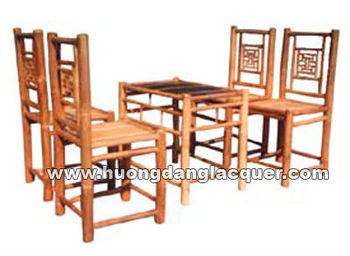Set Tea Table & Chair Made From Vietnam Bamboo - Buy Tea Table And ...