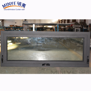Aluminum profile window easy cleaning glass hung window