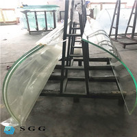 Good quality 17.52mm ultra clear curve laminated glass price