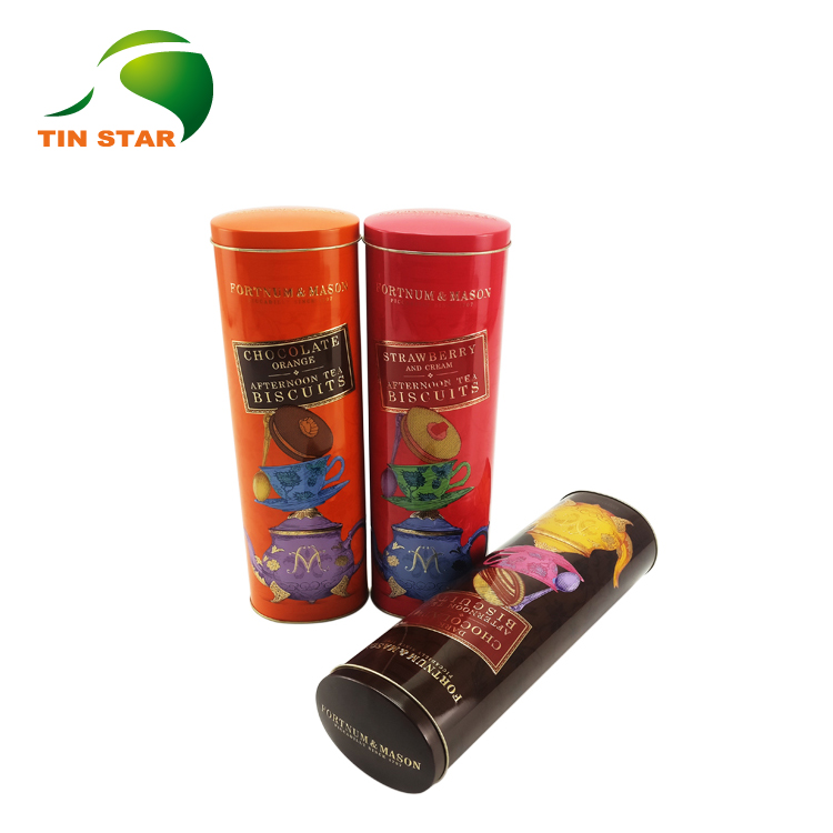 FDA custom printed oval shaped chocolate cookie tin can