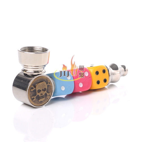 JL-391 Yiwu Jiju Smoke Shop Supplies Wholesale Water Pipes Glass Smoking,Metal Smoking Pipes
