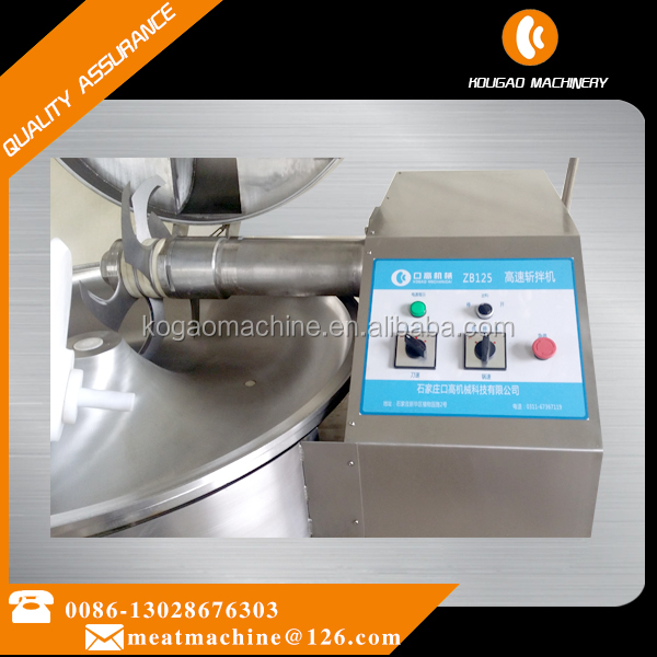 Small Stainless Steel meat cutter 125 L for meat shop and meat factory 008613028676303