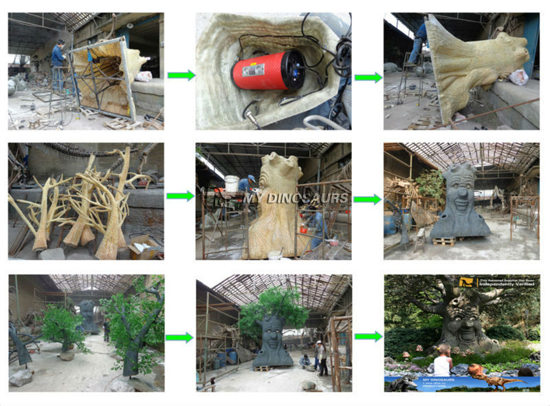 MY Dino-D13-7 Outdoor Park Christmas Decoration Animatronic Talking Tree