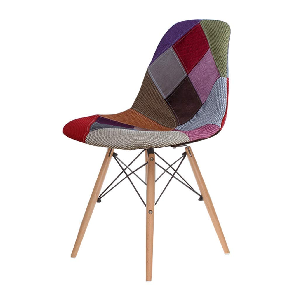 Wooden Chair Creative Office Stools Kitchen Dining Table Meeting Room Backrest Business Computer Chair Barstools Cloth Cushion,45x45x82cm