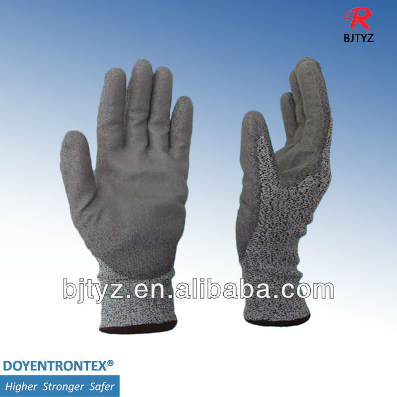 UHMWPE fiber cut resistant gloves covered yarn