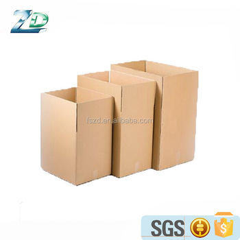 Custom made print brand logo corrugated moving carton cardboard corrugated paper box for packaging